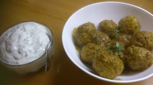 And ready to serve with a Mint and Lemon Raita